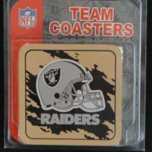 NFL Oakland Raiders Team Coasters- Set of 4